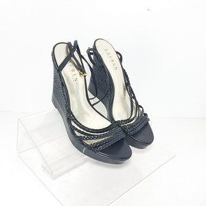 Lauren Ralph Lauren Platform Wedge Sandals Size 7